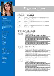 Modello Curriculum Vitae Da Stampare Gratis